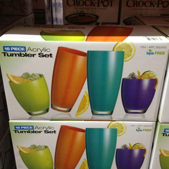 I want! Cute tumbler set at Costco.