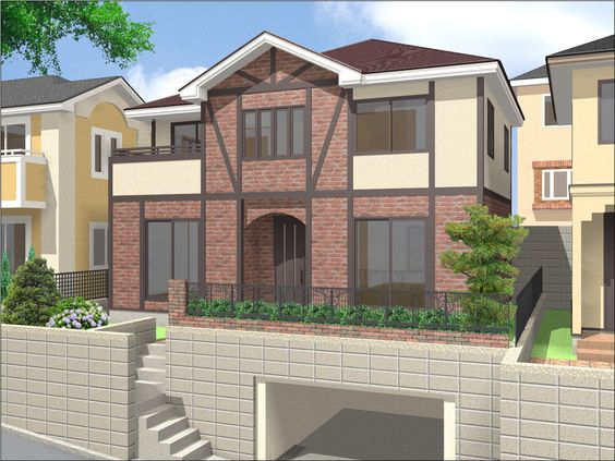 This stylised 3D render of a modern house was created in Fukui Computer with its integrated Lightworks rendering engine.