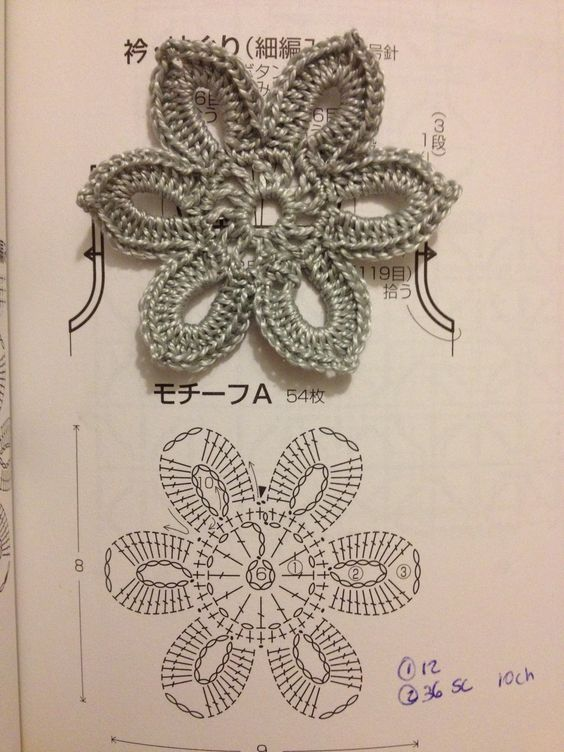 Crochet Flower - Chart: