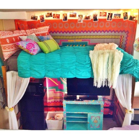 Colorful Dorm Room: Dorm Room. Brumby Hall. UGA.