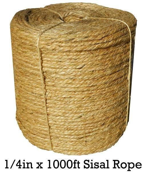 Sisal Rope 1 4 Inch X 500 Feet 100 Cat Friendly Sisal Rope Sisal Sisal Twine