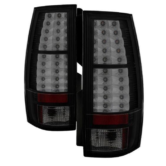 ( Spyder ) Chevy Suburban/Tahoe 07-14 / GMC Yukon/Yukon Denali 07-14 - LED Tail Lights - Black Smoke
