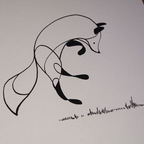 Fox Pen and Ink Drawing *SOLD OUT* - Ben The Illustrator ...