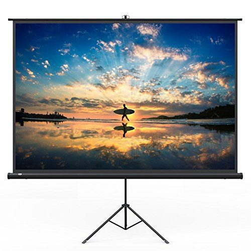 Taotronics Projector Screen With Stand Tt Hp020 Indoor Movie Screen 120 Diagonal 4 3 With Wr Outdoor Projector Screens Outdoor Movie Screen Outdoor Projector
