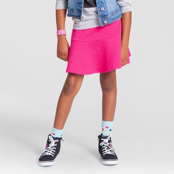 Girls' Heart Knit Skirt Cat & Jack - Pink