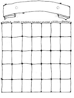 Blank Calendar Clip Art Black And White 1000+ ideas about blank ...