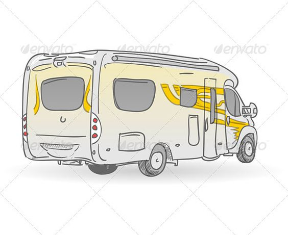 Recreational Vehicle Illustration #GraphicRiver Hand drawn image of european RV from back Created: 18January13 GraphicsFilesIncluded: JPGImage #VectorEPS #AIIllustrator Layered: No MinimumAdobeCSVersion: CS Tags: RV #camp #camper #comfort #drive #home #journey #leisure #lifestyle #mobile #modern #motor #motorhome #recreation #recreational #retire #ride #summer #tour #trailer #transportation #travel #traveler #trip #truck #vacation #van #vehicle #voyage #wheels