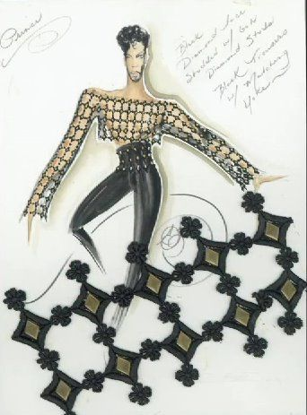 Prince's clothes and sketches made by Stacia Lang