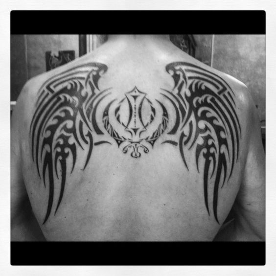 My Back Piece October 2012 Center Symbol Is The Sikh