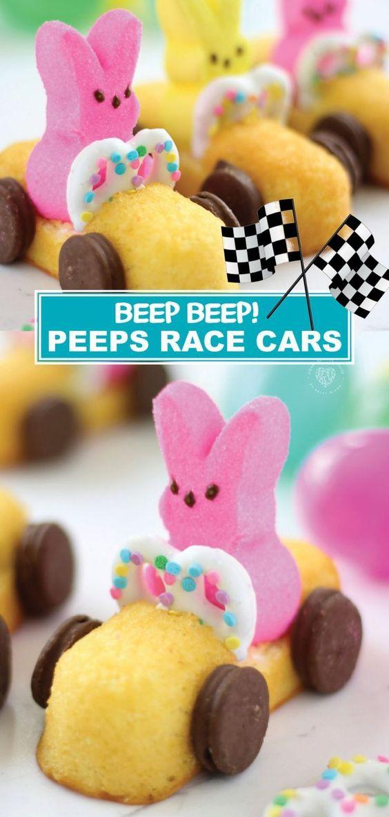 Peeps Recipe: Easter Peeps Race Cars for Kids
