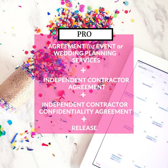 Wedding Planner Contracts; Event Planner Contractsu0027 Agreement for - vendor confidentiality agreement