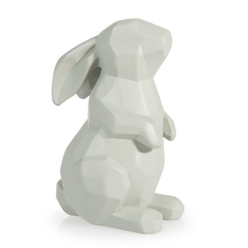 Kaninchen-Statuette grau H 11 cm GRAPHIK