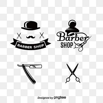 أدوات صالون حلاقة و علامات مواد صور Png وصور المتجهات Barber Shop Shop Logo Design Powerpoint Background Design