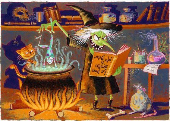 la soupe vénéneuse de crapautine, histoire courte, amitié et sorcières.