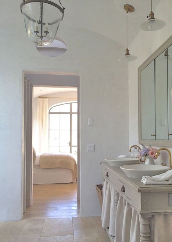Patina farm update master bathroom and closet cabin for Updated master bathrooms