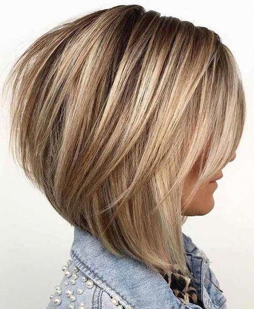 11 Layered Graduated Bob Haircut Bobhaircutwithlayers Bobstylehaircuts Hair Styles Thick Hair Styles Short Hairstyles For Thick Hair