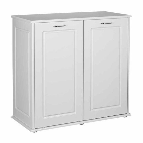 Tilt Out Cabinet Sorter with 2 Lift Out Bags - White Laminate Finish