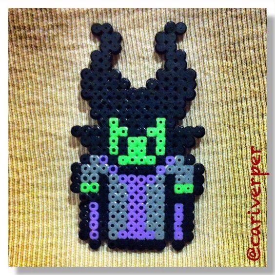 Maleficent perler beads by cariverper