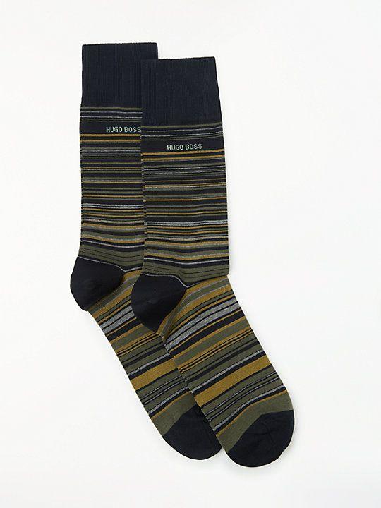 nice shoes outlet store sale buy online HUGO BOSS Multi Stripe Socks, Pack of 2, Multi   Socks ...