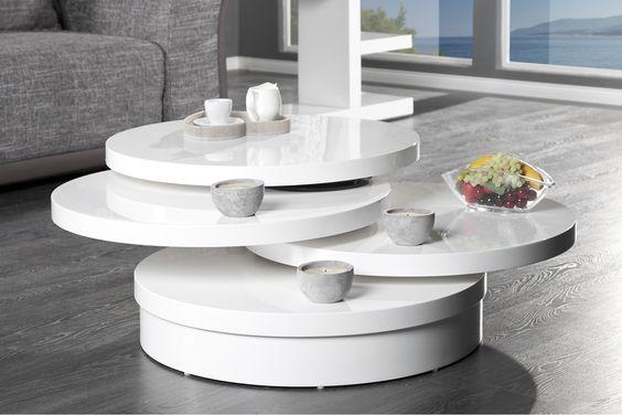 Der runde Couchtisch MULTI PUK XL im High Gloss Design