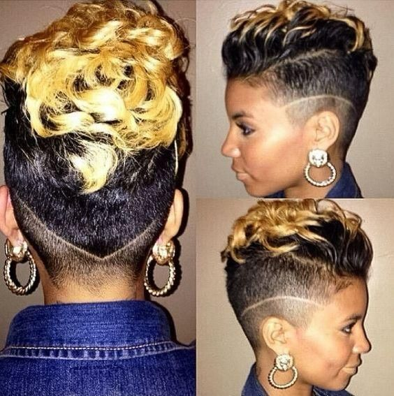 African American Two Tone Undercut Stylish Ombre And Bold Haircut For Black Women See Top 32 Photos Hair Styles Sassy Hair Short Hair Styles