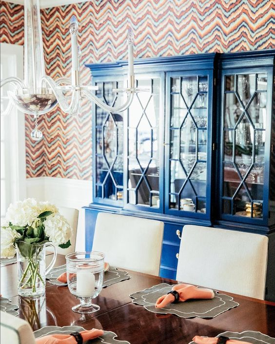 Check out this stunning royal blue hutch we did for @alexkaehlerdesign We love how the dining room turned out  #bluefurniture #furnituremakeover #diningroom #vintagefurniture #furnituredesign #refinishedfurniture #paintedfurniture #bluehutch #traditionalfurniture #royalblue