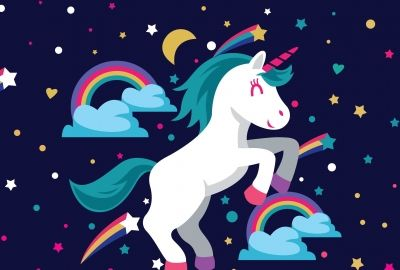 Unicorn 3067x2300 Rainbow Colorful Stars Girly Hd With Images