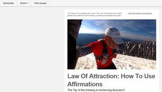 Summit Success Training: The Law of Attraction and Affirmations - Emails You Missed