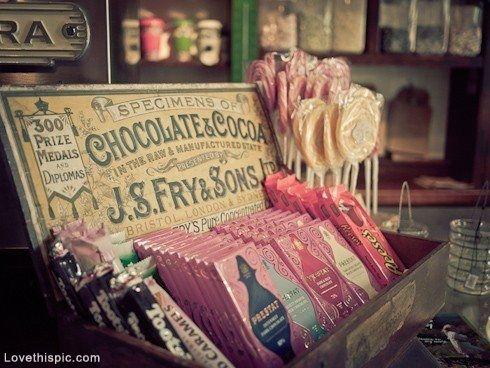 vintage chocolade doopsuiker verpakking Xantifee