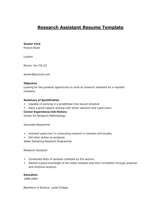 11 Sample Resume For Restaurant Manager Riez Sample Resumes - resume research assistant