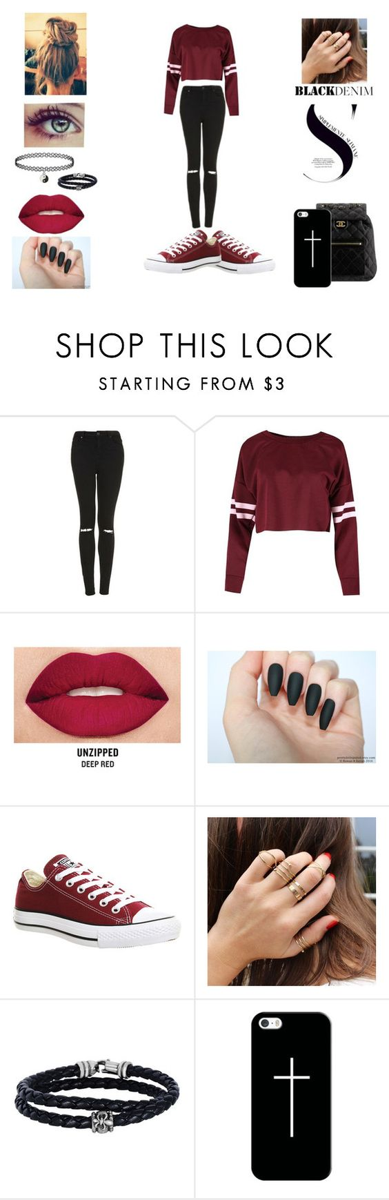 """""""#Unititled20"""" by idkwhatsay6998 ❤ liked on Polyvore featuring Topshop, Smashbox, Converse, Chanel, Phillip Gavriel and Casetify"""