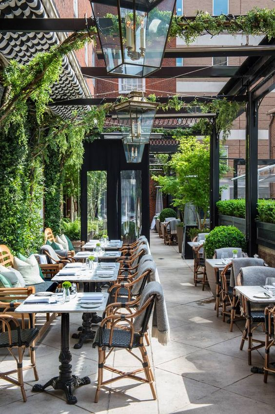 Dining Terrace at Bloomsbury Hotel London. Source: Pinterest