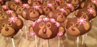 Monkey Girl Cake Pops