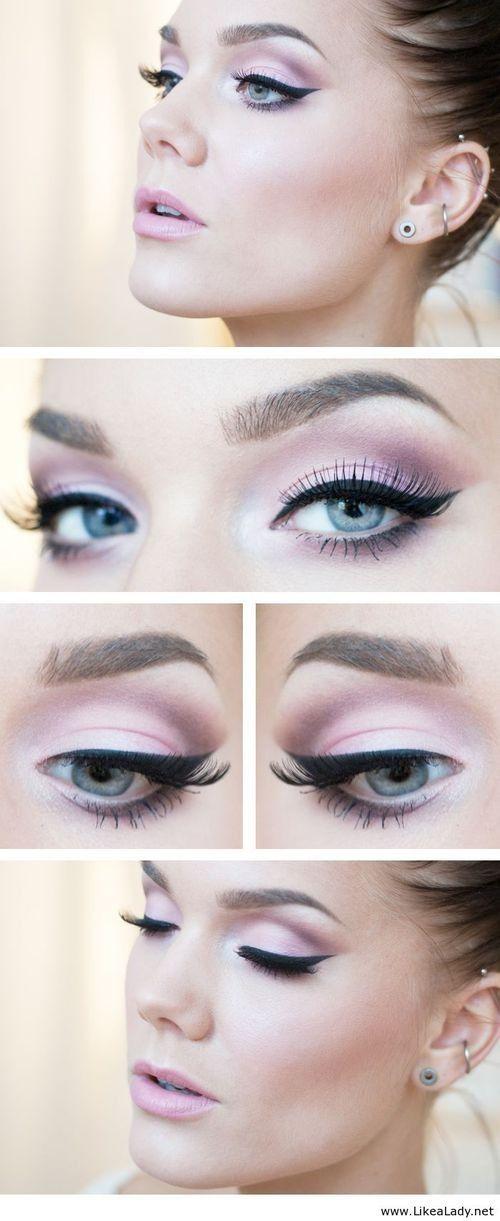 Makeup   light pink eyeshadow look