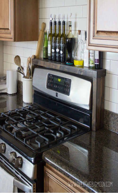 Easy To Make Diy Over The Stove Shelf Kitchen Decor Apartment Stove Decor Apartment Kitchen