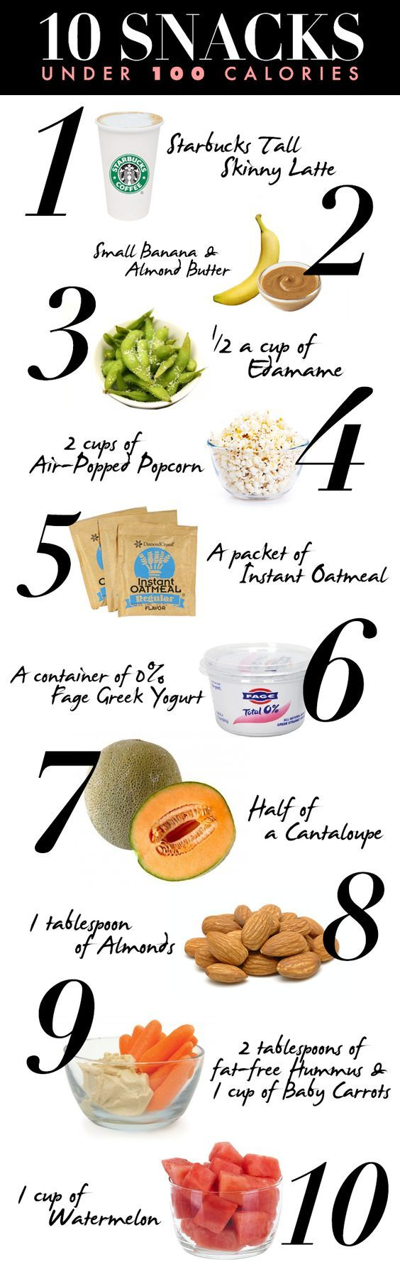 10 Snacks Under 100 Calories!