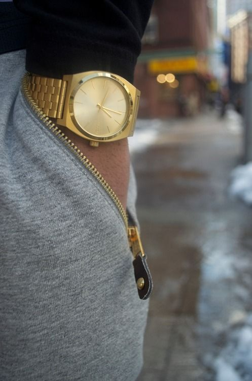 Covetable menswear: loving the idea of the large gold mans watch I never liked Gold mens watches but I have to admit they don't look too bad.