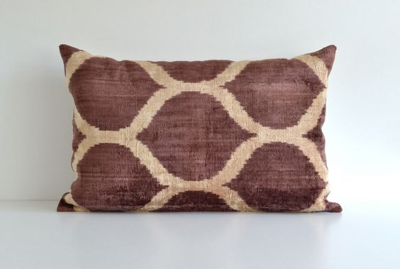 Ikat Pillow Cover - Brown Decorative Throw Pillows Large Couch Pillows Modern Pillow Cover Lounge Pillow Decorative Pillow Lumbar by pillowme on Etsy https://www.etsy.com/listing/156711359/ikat-pillow-cover-brown-decorative-throw