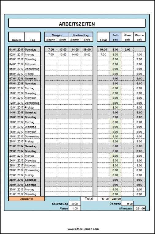 Arbeitszeitnachweis Vorlage Kostenlos 2017 Vorlagen Flugblatt Design Excel Vorlage