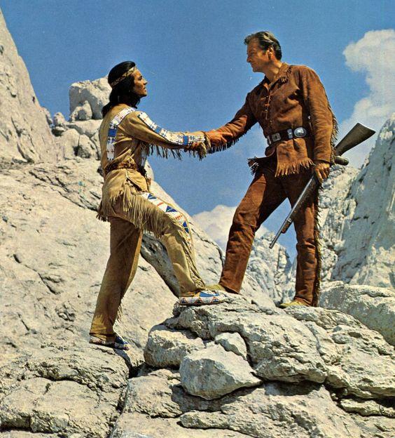 Winnetou und Old Shatterhand.