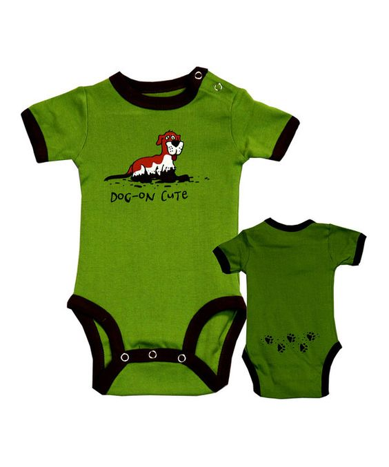 Take a look at this Green 'Dog-On Cute' Bodysuit - Infant on zulily today!