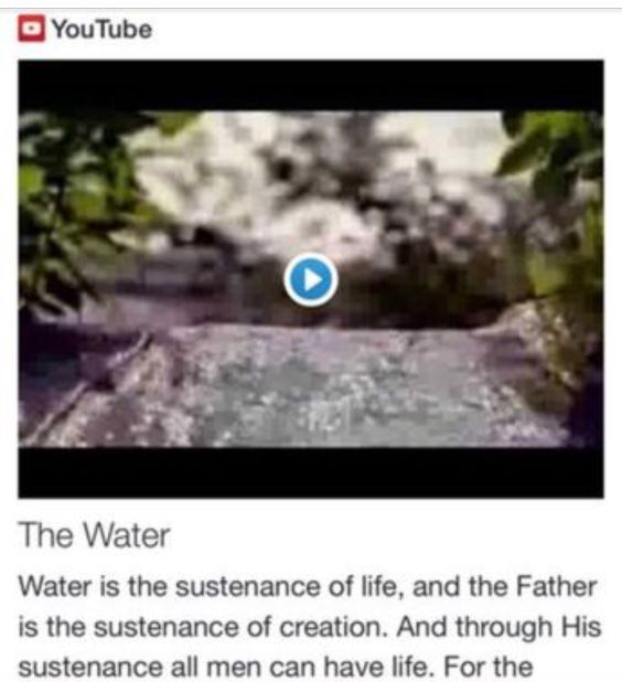The Water from Signs, Science, and Symbols of the Prophecy http://www.andrewtheprophet.com/11001/20343.html
