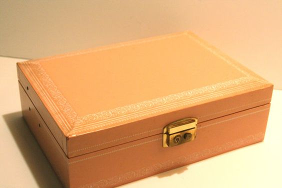 Vintage Ladies Jewelry Box by Mele by CalmCoolCollectedVin on Etsy, $20.00