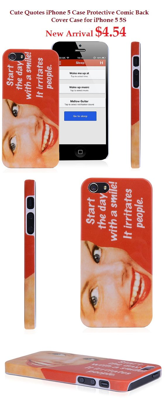 Cute Quote iPhone 5 Case Protective Comic Back Cover Case for iPhone 5 5S #quote #case #protective #cover #iphone5 #apple
