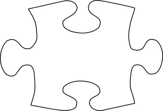 Puzzle Piece Template  Jigsaw White Puzzle Piece No Shadow Clip