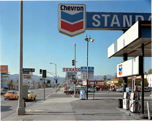 beverly boulevard and la brea avenue, los angeles, california, june 21, 1975 • stephen shore