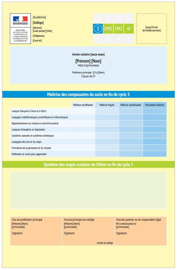 Évaluation des élèves du CP à la 3e. Un livret scolaire plus simple, un brevet plus complet - Ministère de l'Éducation nationale, de l'Enseignement supérieur et de la Recherche