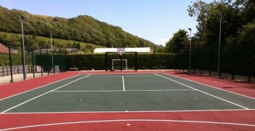 Multi Use Games Area Surfaces In Newry And Mourne Multi Sport In 2020 Tennis Court Basketball Court Basketball