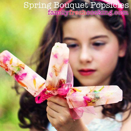 Spring Flower Bouquet Popsicles