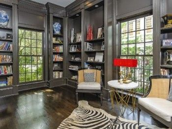 interior design dallas tx - legant home office with built-in bookshelves (6028 onnerly Drive ...